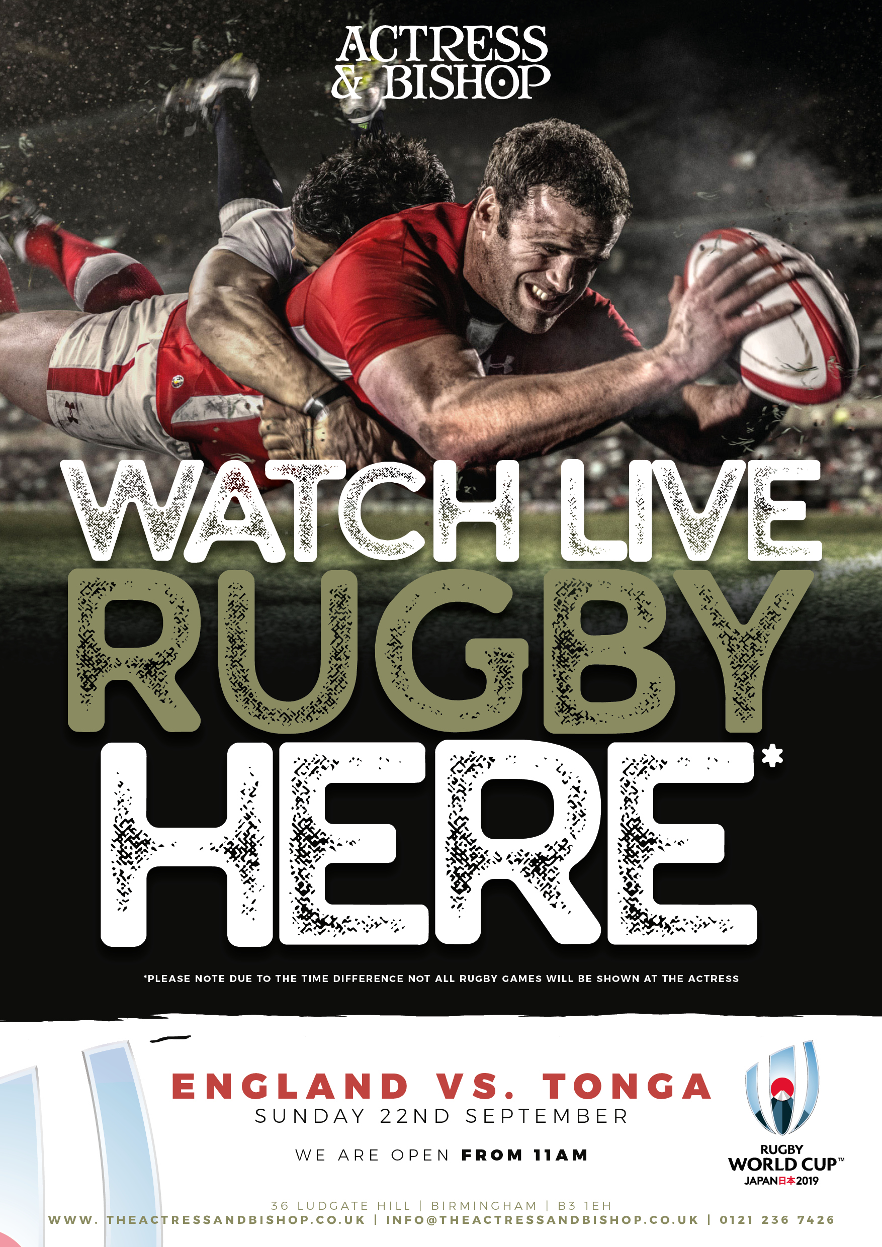 RUGBY WORLD CUP SHOWN HERE!