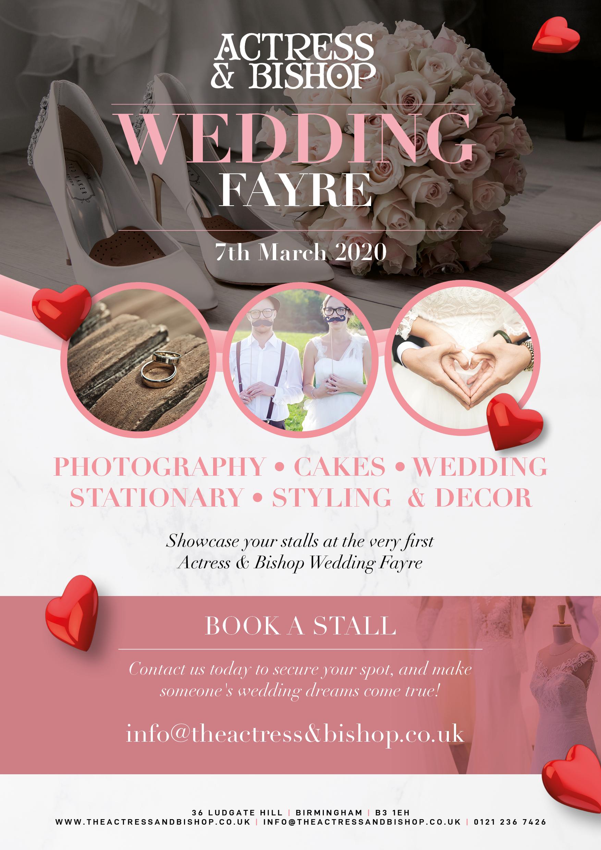 WEDDING FAYRE – MARCH 7TH 2020